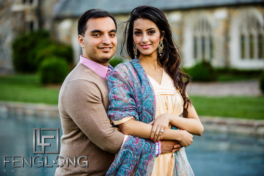 Indian Engagement session at Berry College in Rome, Georgia