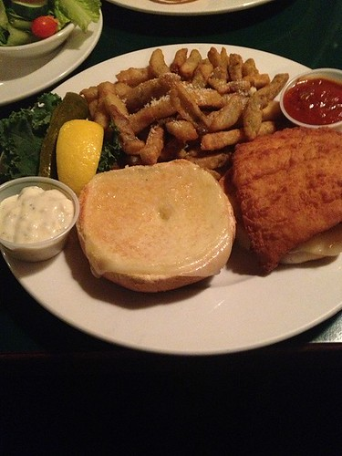Fish Sandwich with Eggplant Fries