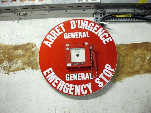 Emergency Stop - underground at CERN
