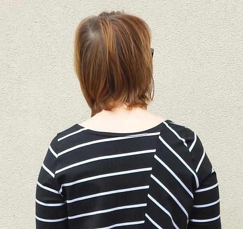 Vogue 8881 view C after neckline alteration