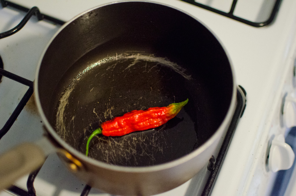 pepper in the pot