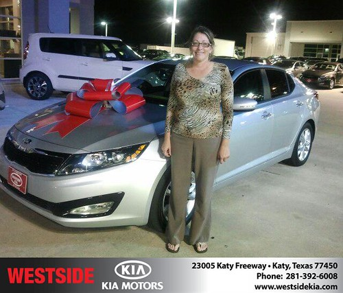 Thank you to Lisa Mckay on the 2013 Kia Optima from Gil Guzman and everyone at Westside Kia! by Westside KIA