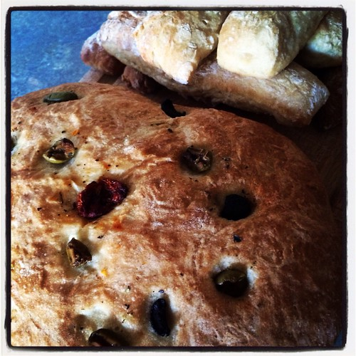 Homemade Olive Bread