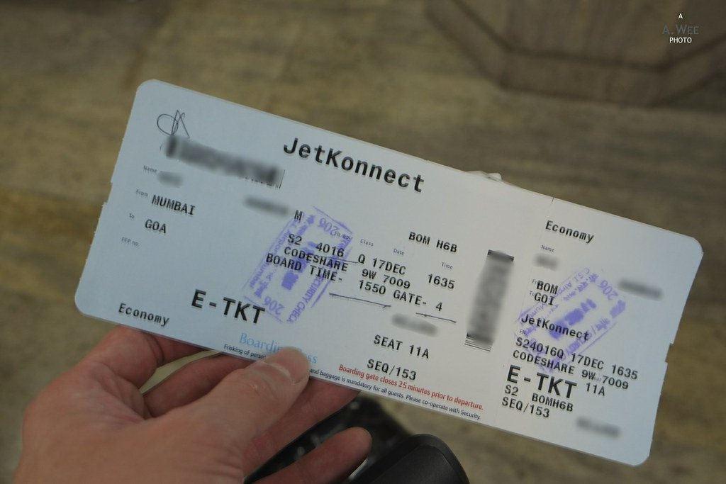 Boarding Pass for the JetKonnect Flight