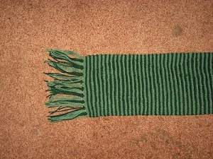Green Alien Illusion Scarf with aliens not visible