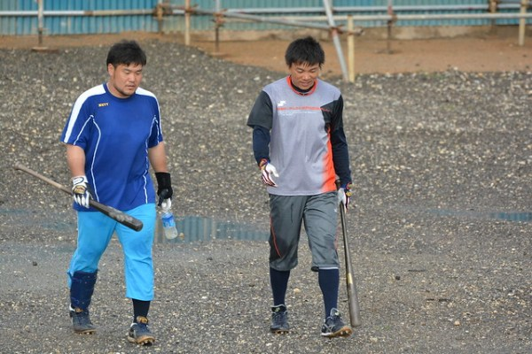大島選手と中田選手