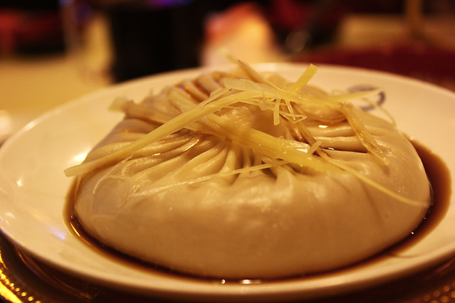 It is very tricky to eat this giant dumpling as it is filled with ... crab soup