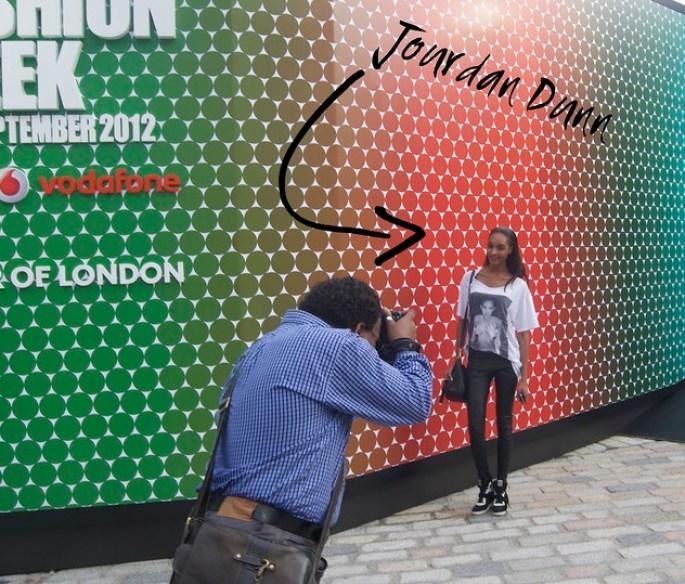 london fashion week jourdan dunn