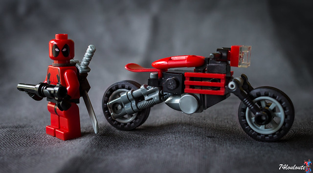 Deadpool and his motorbike