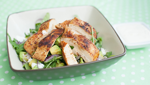Grilled Chicken Salad with Lemon Mayo