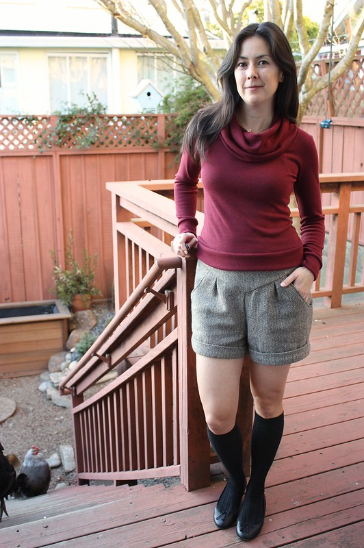 herringbone winter shorts