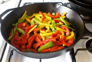 get a little char on the peppers