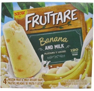 Fruttare Banana and Milk Frozen Fruit and Milk Dessert Bar Box