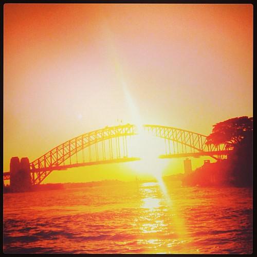 Harbour Bridge #sunset #sydney by @MySoDotCom