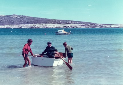 Sweet memories of my dad with our two boats Blaasoppie and Omdoppie