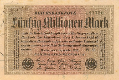 Reichsbanknote 50 million Marks