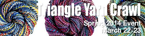triangle yarn crawl 2014