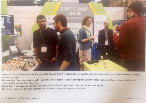 Data Discovery Centre at Traffex 4-6 April 2017
