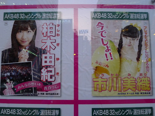 Yukirin, Miorin 2013 general election posters