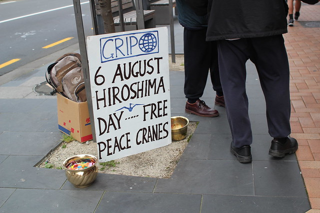 Tuesday: free cranes for Hiroshima day