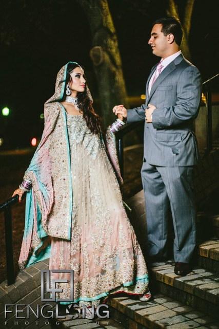Bride and groom on Valima night