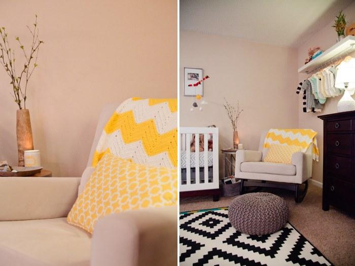 Master Bedroom Nursery home tour // master bedroom + nursery nook - fresh mommy blog