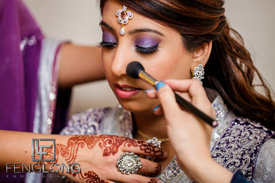 Kanwal getting final makeup touches done