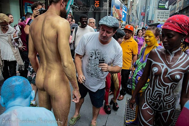 naturist 0008 body paint art, Times Square, New York, NY, USA