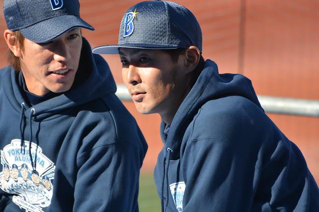 荒波選手と石川選手