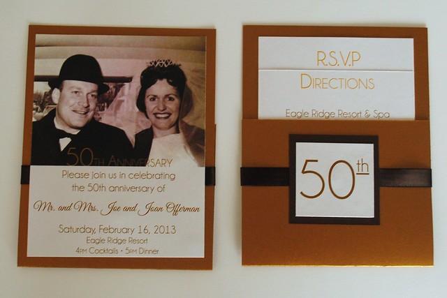 50th Anniversary Party Invite