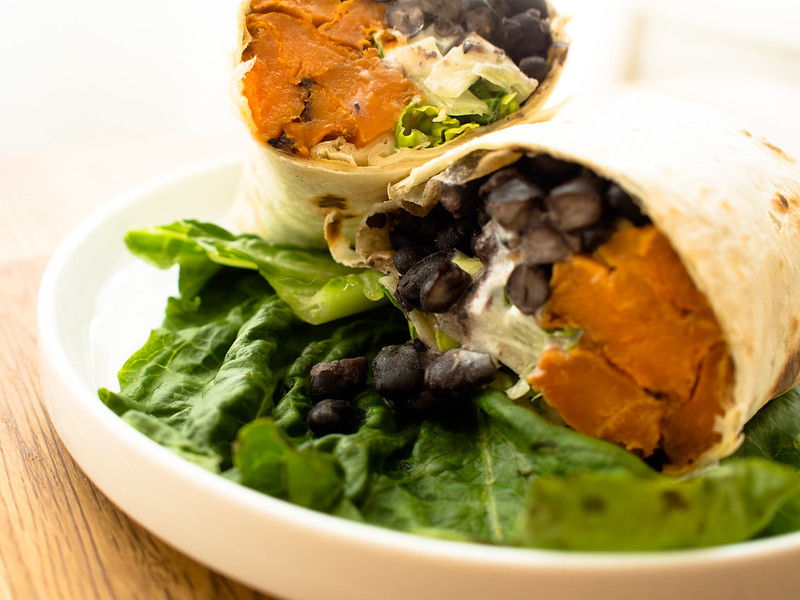 Chipotle, Sweet Potato, and Black Bean Burritos
