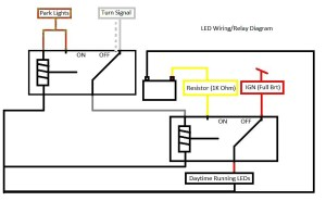 DIY C300 LED DRLs with Relay Diagram  MBWorld Forums