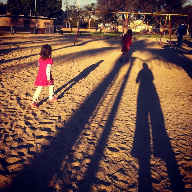 Long shadows...