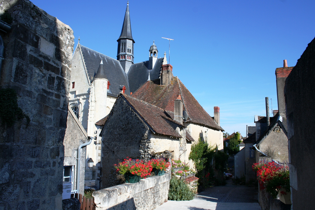 Típica calle medieval de Montrésor, junto al Loira. Autor, B.roveran