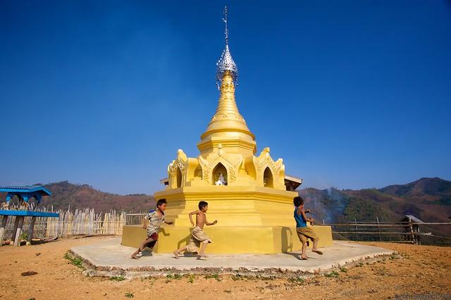 Myanmar Burma Buddhist Stupa