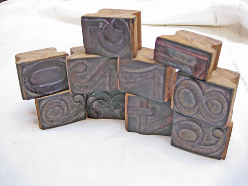 wood number stamps
