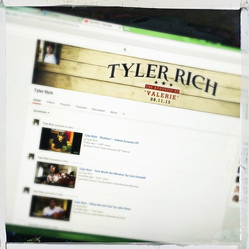 day202: checking out @TylerRichMusic's YouTube page