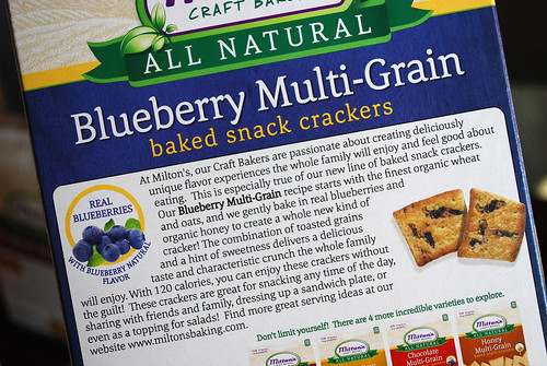 Blueberry Cracker box