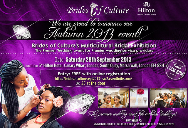 Brides of Culture set to take Autumn by storm - Hosting its multicultural wedding exhibition at The Luxurious Hilton Canary Wharf