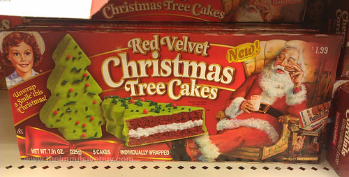 Red Velvet Christmas Tree Cakes