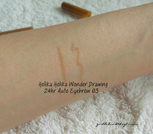 Holika Holika Wonder Drawing 24hr Auto Eyebrow swatch