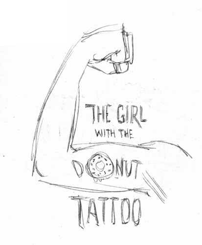 Girl with Donut Tattoo sketch
