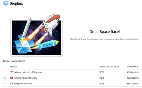 Great Space Race! - Dropbox