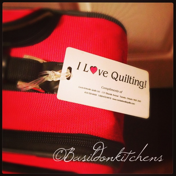 Sep 12 - tag {this is my luggage tag} #photoaday #tag #luggage #travel #quilting
