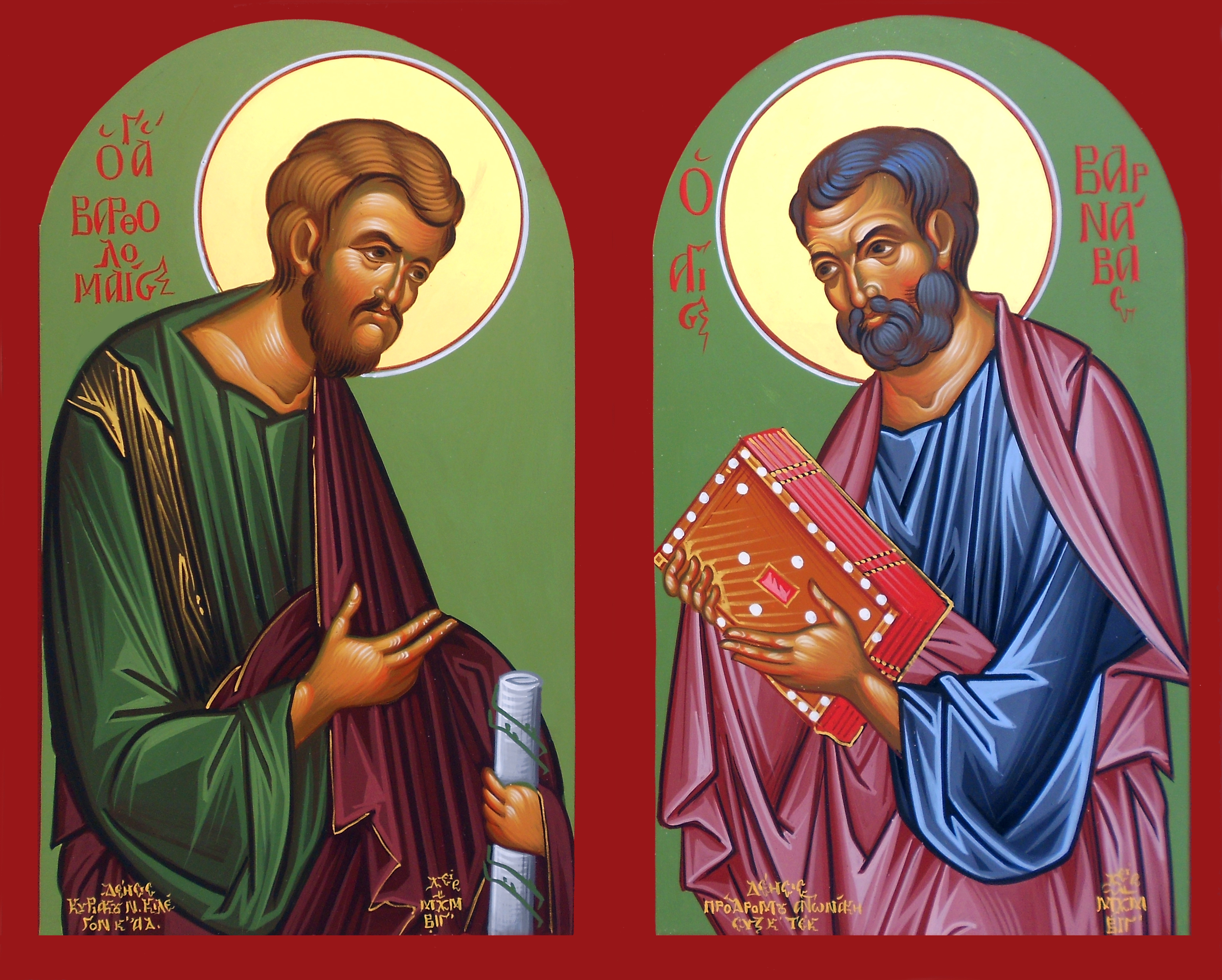 Image result for απόστολος βαρθολομαίος και βαρνάβας