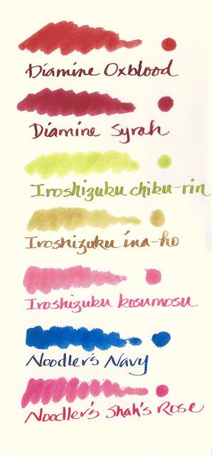 Ink Samples