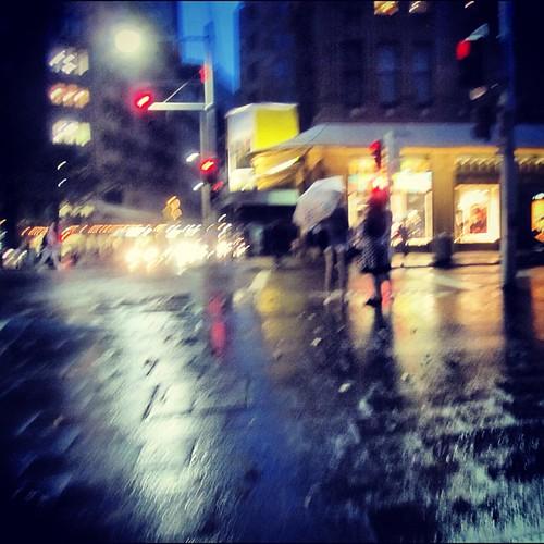 #sydney #australia rainy day in George St by @MySoDotCom