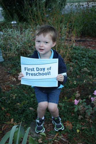 First Day of Preschool!
