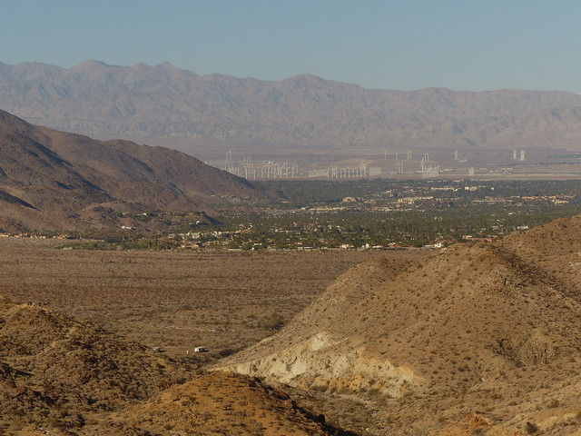 Victor Trail view SE showing Palm Springs and windmill farm P1080078