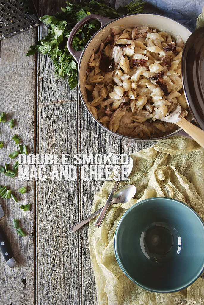 Double Smoked Chicken Mac and Cheese {Girl Carnivore}